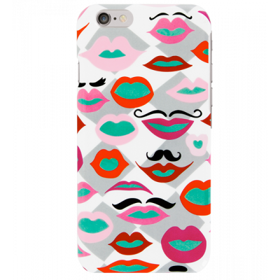 Schale für iPhone 6 - I Cover 6 Mouth Moustache