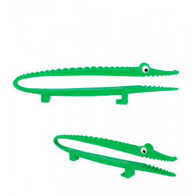 Mini Croc' - Small serving tongs Green