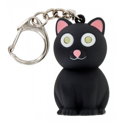 LED keyring - Keyled Black cat