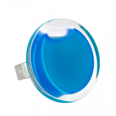 Cachou Medium Milk - Anello in vetro Blu reale