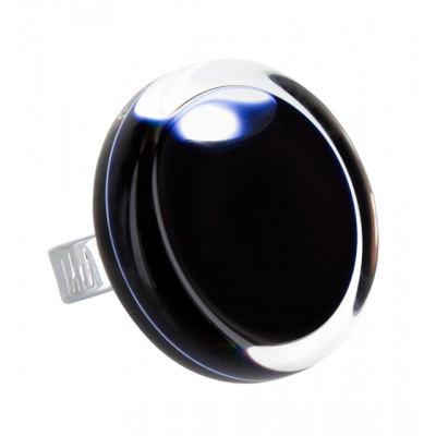 Glass ring - Cachou Medium Milk Black