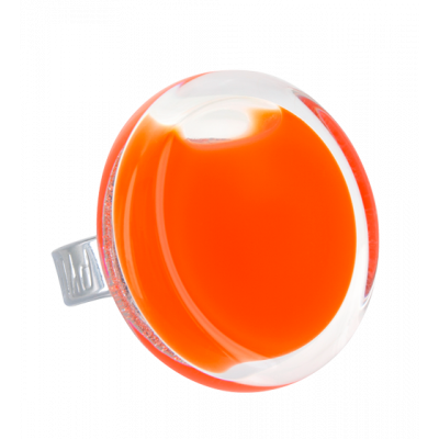 Glass ring - Cachou Medium Milk Orange