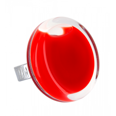 Glass ring - Cachou Medium Milk Light red