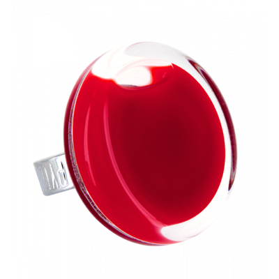 Glass ring - Cachou Medium Milk Dark red