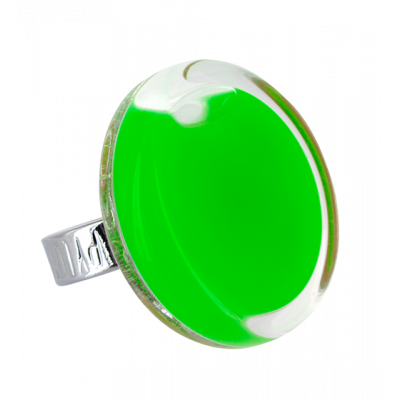 Cachou Medium Milk - Anello in vetro Verde scuro