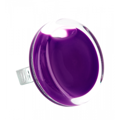 Glass ring - Cachou Medium Milk Dark purple