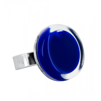 Glass ring - Cachou Mini Milk Dark Blue