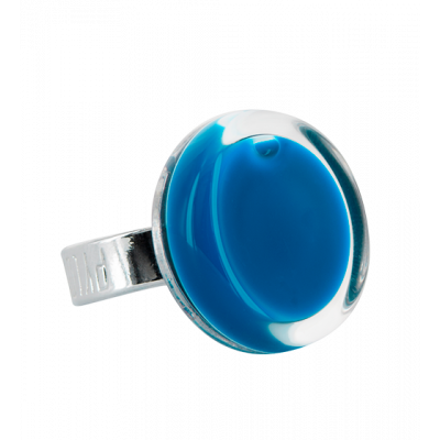 Cachou Mini Milk - Glass ring Royal blue