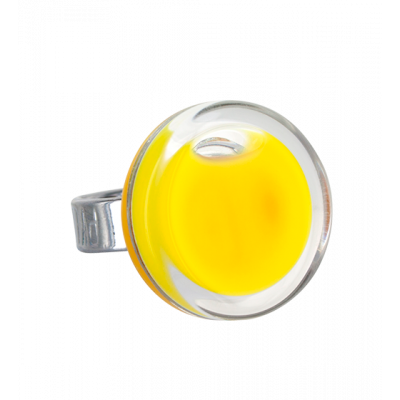 Anello in vetro - Cachou Mini Milk Giallo