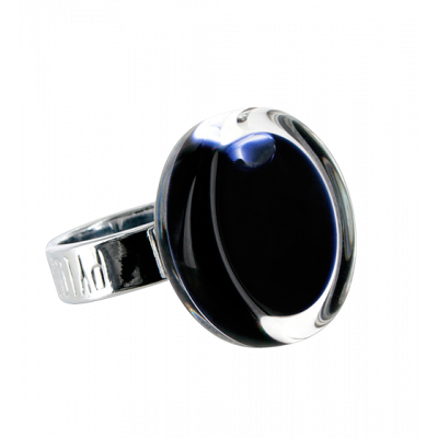 Glass ring - Cachou Mini Milk Black
