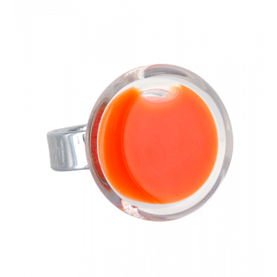 Cachou Mini Milk - Glass ring Orange