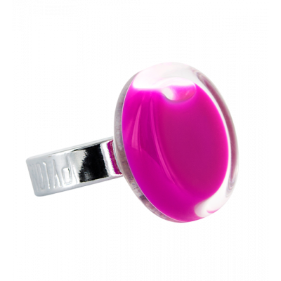 Anello in vetro - Cachou Mini Milk Fucsia