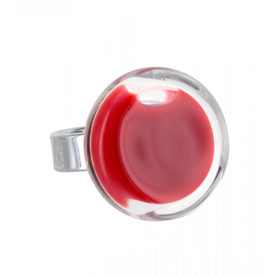 Glass ring - Cachou Mini Milk Dark red