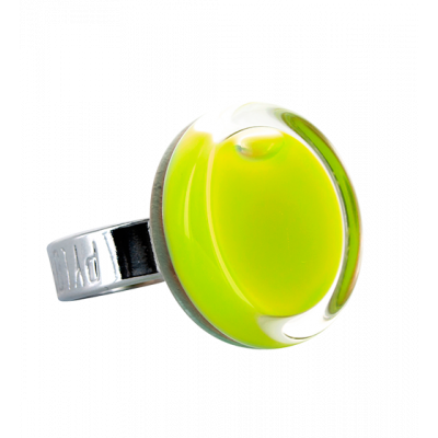 Glass ring - Cachou Mini Milk Light Green