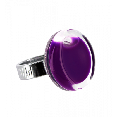 Glass ring - Cachou Mini Milk Dark purple