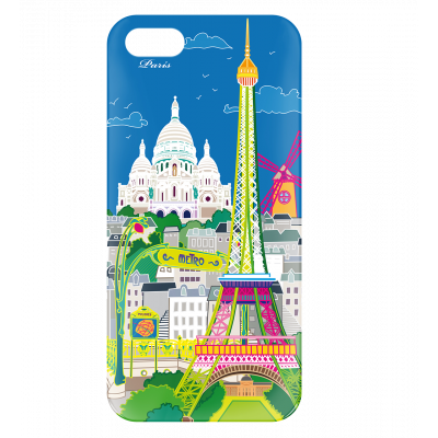 Coque pour iPhone 5/5S - I Cover 5 Paris Bleu