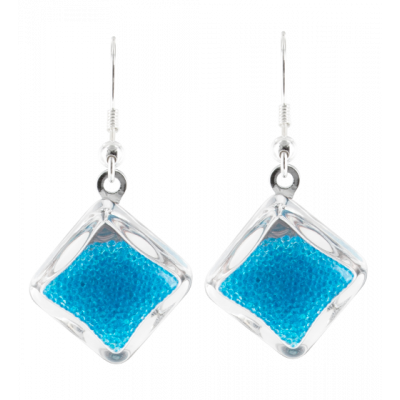 Carre Billes - Hook earrings Royal blue