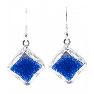 Carre Billes - Hook earrings Dark Blue