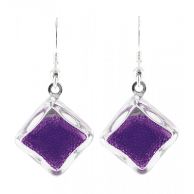 Carre Billes - Hook earrings Purple