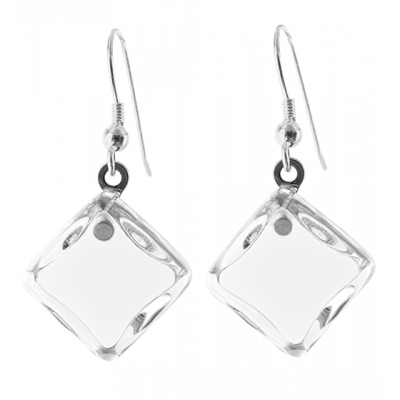 Carre Milk - Hook earrings White
