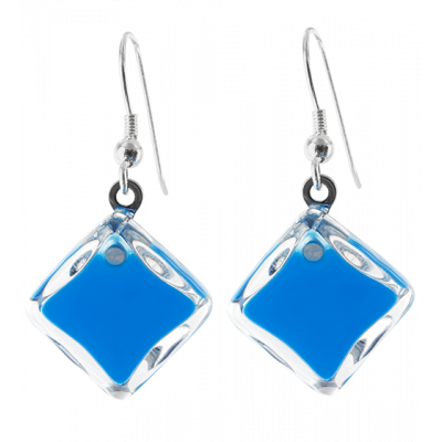 Carre Milk - Hook earrings Royal blue