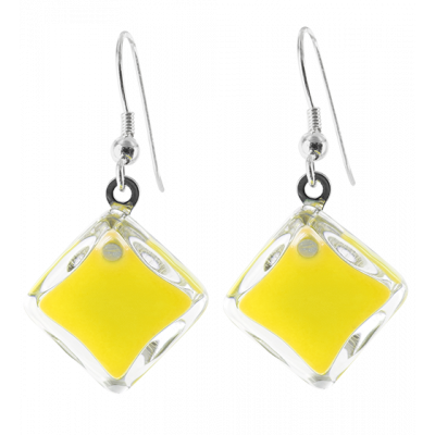 Carre Milk - Hook earrings Yellow