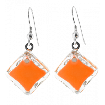 Carré Milk - Boucles d'oreilles crochet Orange