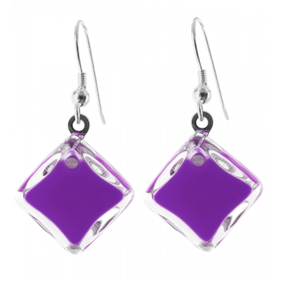 Carre Milk - Hook earrings Purple