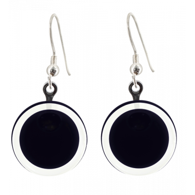 Hook earrings - Cachou Milk Black