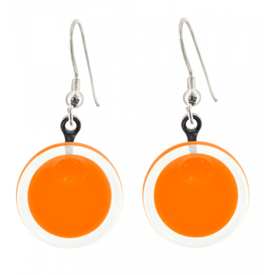 Boucles d'oreilles crochet - Cachou Milk Orange