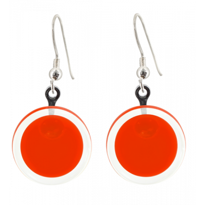 Hook earrings - Cachou Milk Light red