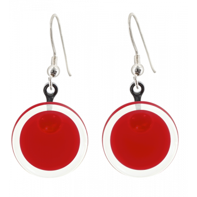 Hook earrings - Cachou Milk Dark red