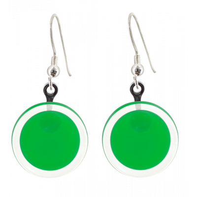 Cachou Milk - Hook earrings Dark green