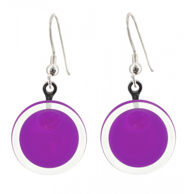 Cachou Milk - Hook earrings Purple