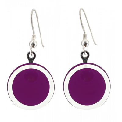 Cachou Milk - Hook earrings Dark purple