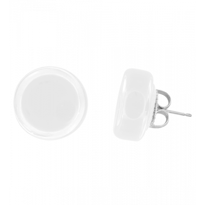 Cachou Milk - Stud earrings White