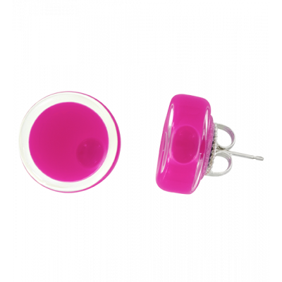 Cachou Milk - Stud earrings Fuchsia