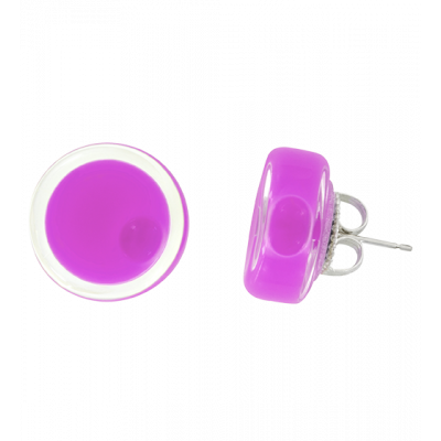 Stud earrings - Cachou Milk Lilas