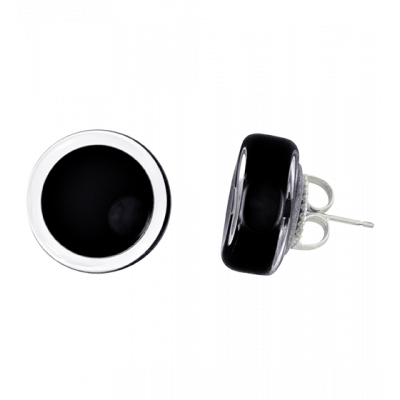 Stud earrings - Cachou Milk Black