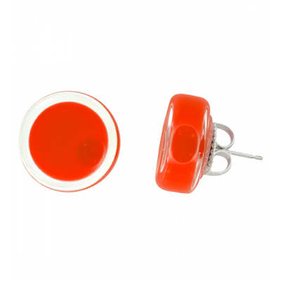 Stud earrings - Cachou Milk Light red
