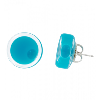 Stud earrings - Cachou Milk Turquoise