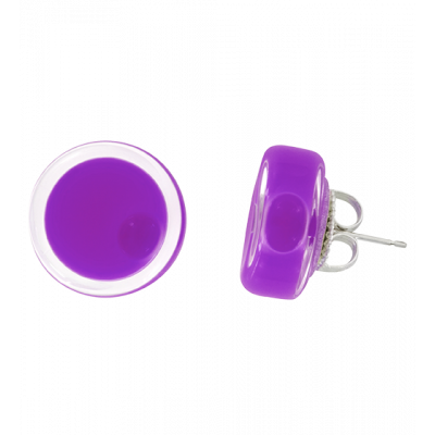 Cachou Milk - Stud earrings Purple