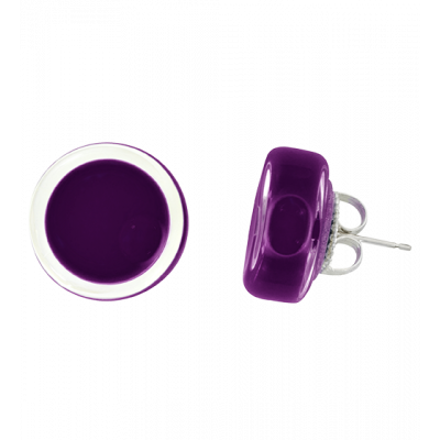Cachou Milk - Stud earrings Dark purple