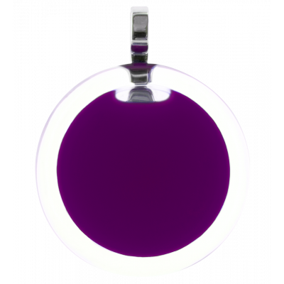 Necklace - Cachou Medium Milk Dark purple