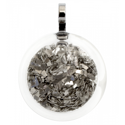 Necklace - Cachou Medium Paillettes Silver
