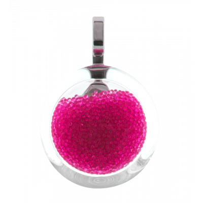 Necklace - Cachou Mini Billes Fuchsia