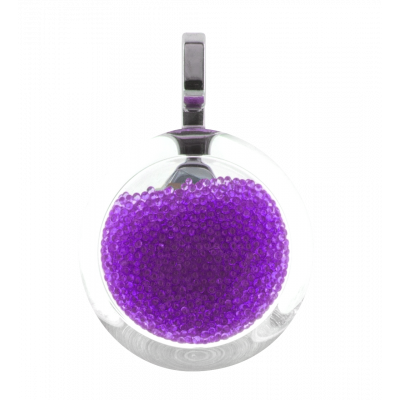 Necklace - Cachou Mini Billes Purple