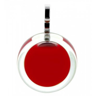 Necklace - Cachou Mini Milk Dark red