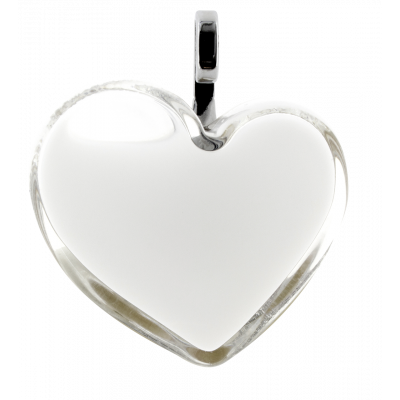Necklace - Coeur Medium Milk White