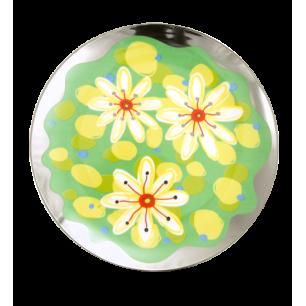 Gourmandes - Plate Green Flower
